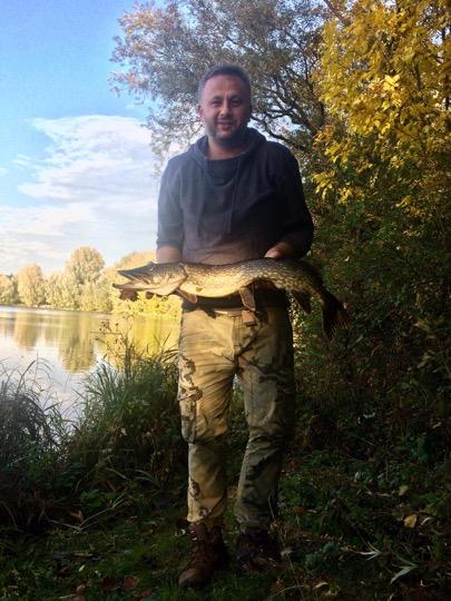 Hecht 90cm, 13.10.2019 Ölper See, Lukasz Olejniczak